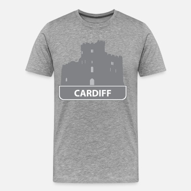 Cardiff National landmark Cardiff silhouette - Men's Premium T-Shirt