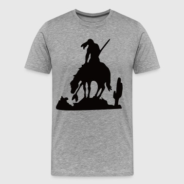 Black and white cowboy - Men's Premium T-Shirt