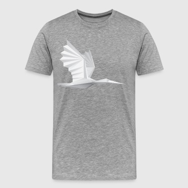 Bird paper art origami - Men's Premium T-Shirt