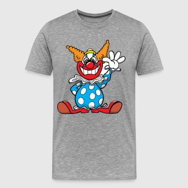 Happy clown cartoon - Men's Premium T-Shirt