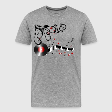 Stylish music abstract art - Men's Premium T-Shirt