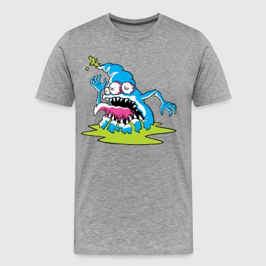 Blue Monster design - Men's Premium T-Shirt