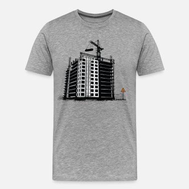 Building Construction Construction building art - Men's Premium T-Shirt