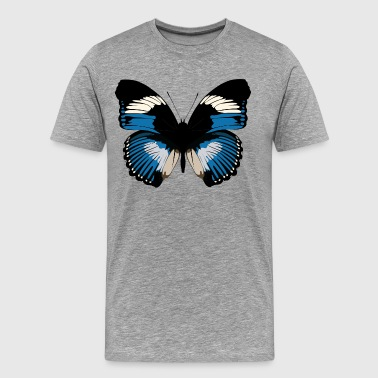 Blue and black butterfly design - Men's Premium T-Shirt