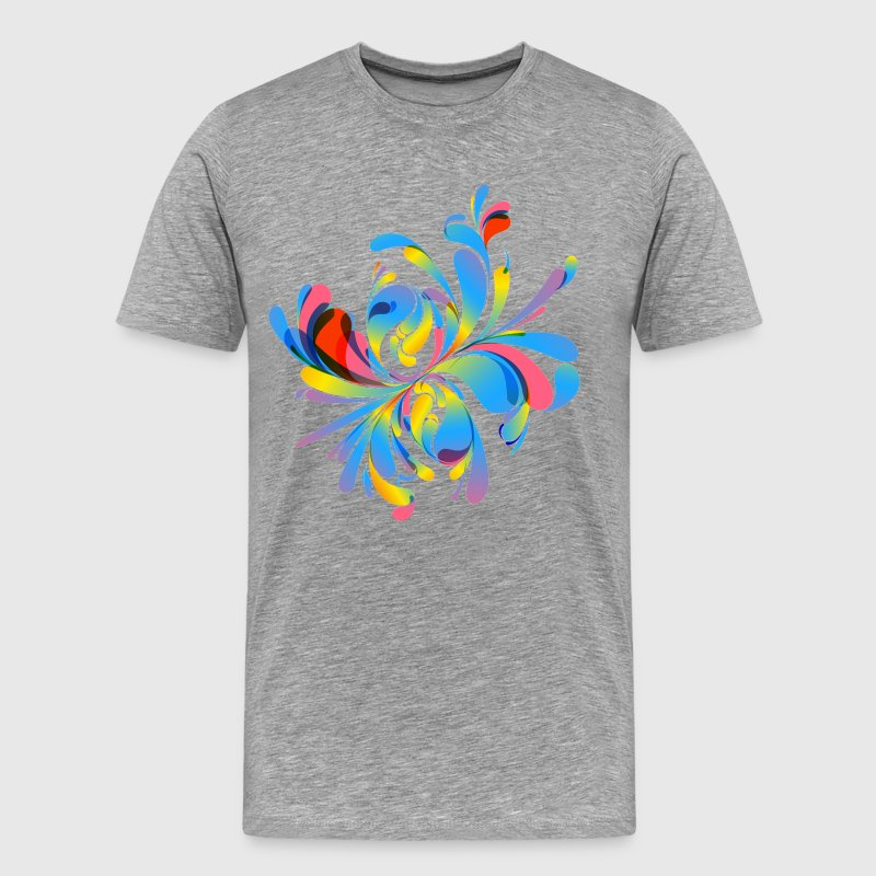 Abstract colorful floral design illustration - Men's Premium T-Shirt