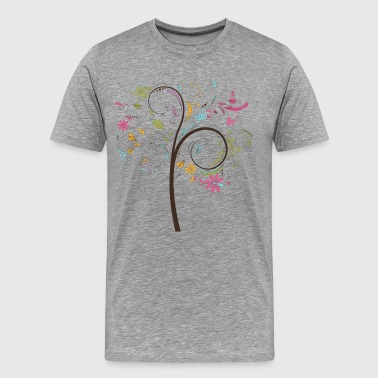 Abstract swirl floral tree graphic - Men's Premium T-Shirt
