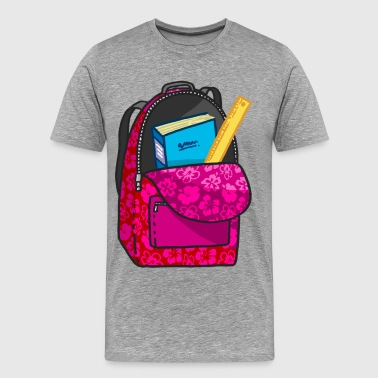 School bag with books - Men's Premium T-Shirt