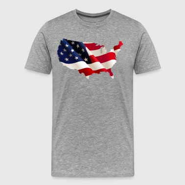 America flag design - Men's Premium T-Shirt