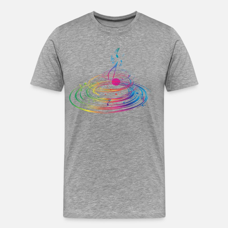 Stylish T-Shirts - Stylish colorful music background - Men's Premium T-Shirt heather gray