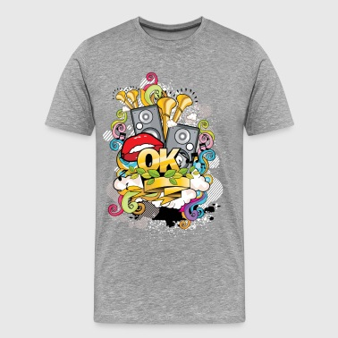 Style Of Music Creative music style design - Men's Premium T-Shirt