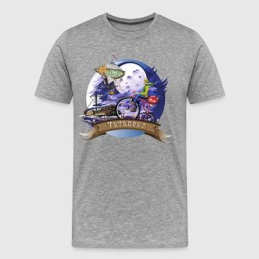 Fly to the moon the Canadian bicycle brand - Men's Premium T-Shirt