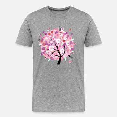 Cricket Designs Tree abstract design - Men's Premium T-Shirt