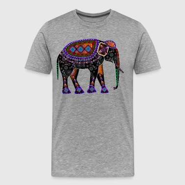Egyptian elephant design - Men's Premium T-Shirt