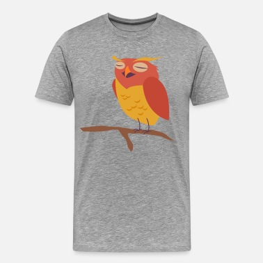 Red Bird Head Eagle face with red eye - Men's Premium T-Shirt