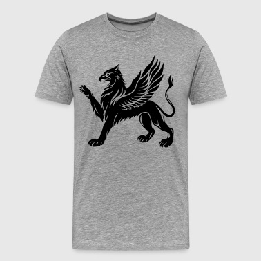Sword Silhouette Griffin - Men's Premium T-Shirt