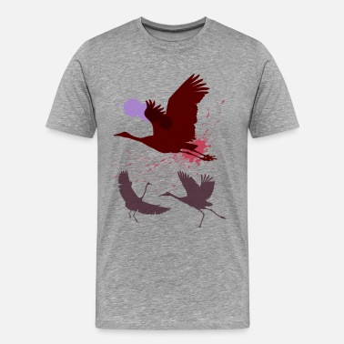 House Fly Art Flying birds painting art - Men's Premium T-Shirt