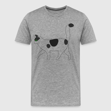 White cat walking clip art - Men's Premium T-Shirt