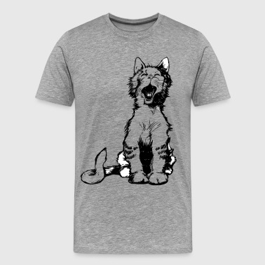 Cat meow clip art - Men's Premium T-Shirt