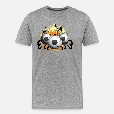 Football Theme Football design art - Men's Premium T-Shirt