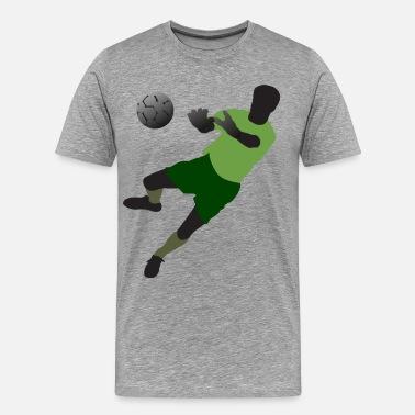 Play Football Ball Football player playing with ball - Men s Premium T-Shirt 81435b900