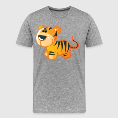 Tiger kid cartoon art - Men's Premium T-Shirt