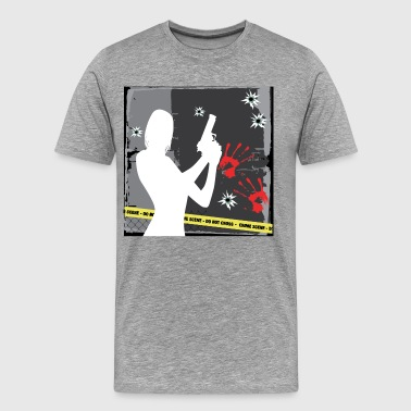 Girl holding gun - Men's Premium T-Shirt
