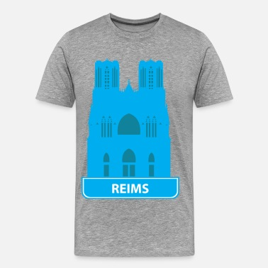 Reims National landmark Reims silhouette - Men's Premium T-Shirt