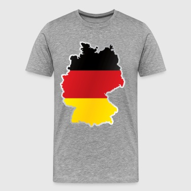 National territory and flag Germany - Men's Premium T-Shirt