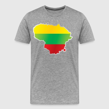 National territory and flag Lithuania - Men's Premium T-Shirt