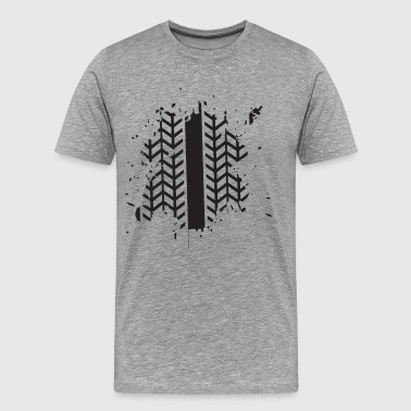 Tire brake print art - Men's Premium T-Shirt