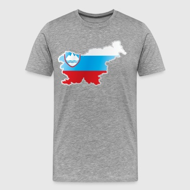 National territory and flag Slovenia - Men's Premium T-Shirt