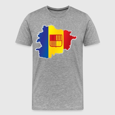 National Flags National territory and flag Andorra - Men's Premium T-Shirt