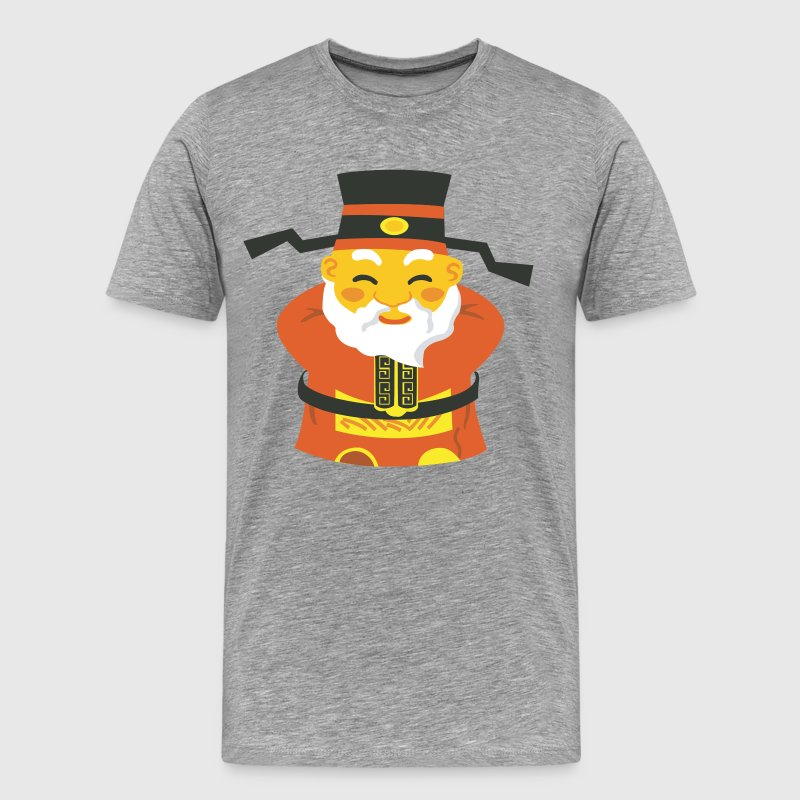Traditional Chinese old man art - Men's Premium T-Shirt