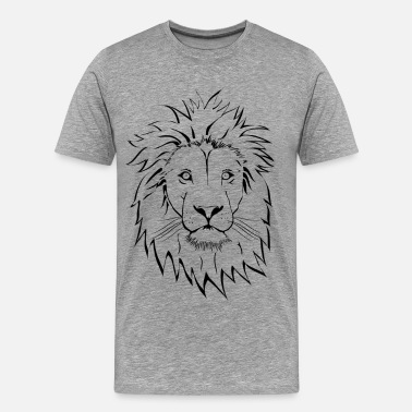 Lion Design Lion head design art - Men's Premium T-Shirt