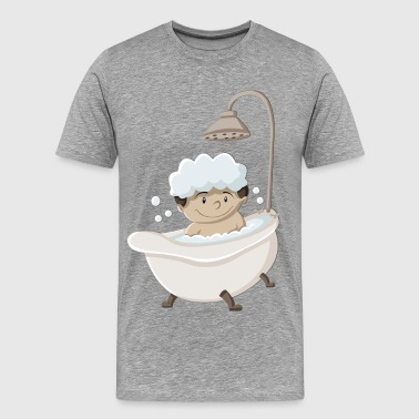 Funny cartoon child design bathing - Men's Premium T-Shirt