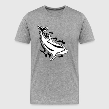 Save the dolphins art - Men's Premium T-Shirt