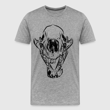 Animal skull line art - Men's Premium T-Shirt