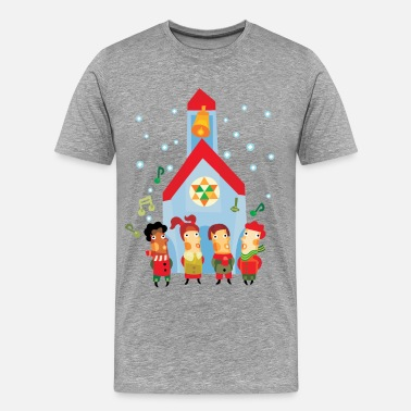 Cute Character Cute Christmas party character - Men's Premium T-Shirt