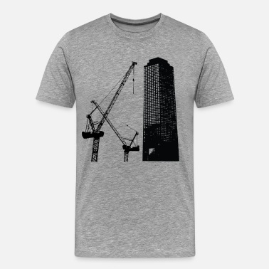 Building Construction Skyscraper building construction - Men's Premium T-Shirt