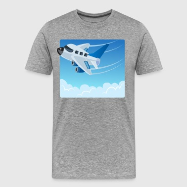 Cartoon Airplane art - Men's Premium T-Shirt