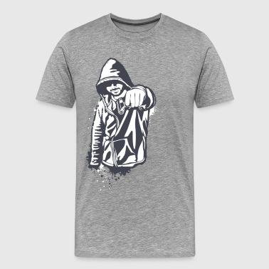 Hoody gangster design - Men's Premium T-Shirt