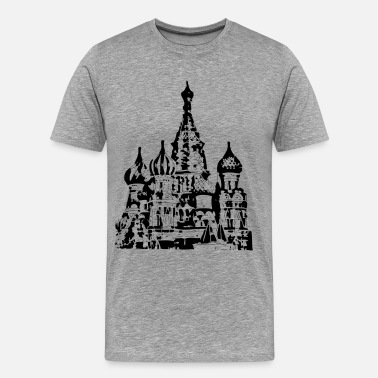 Basil St basils cathedral church design - Men's Premium T-Shirt