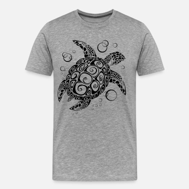 Decorative Decorative turtle design - Men's Premium T-Shirt