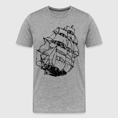 Sailing Designs Sailing boat design art - Men's Premium T-Shirt