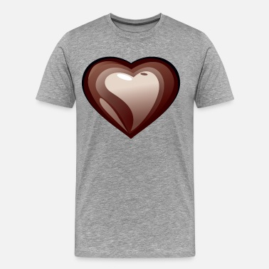 Heart Shape Chocolate heart shape - Men's Premium T-Shirt