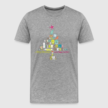 Cartoon Christmas tree elements - Men's Premium T-Shirt