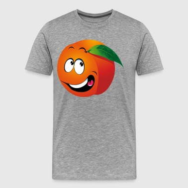 Cartoon apricot fruit smiling - Men's Premium T-Shirt