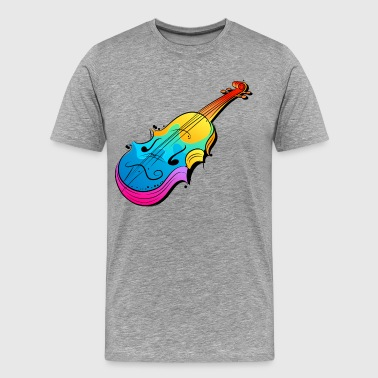 Colorful violin art - Men's Premium T-Shirt