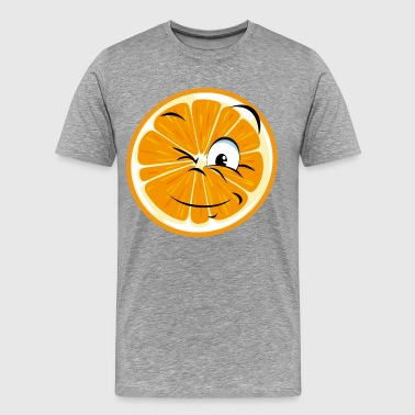 Funny orange cartoon expression - Men's Premium T-Shirt