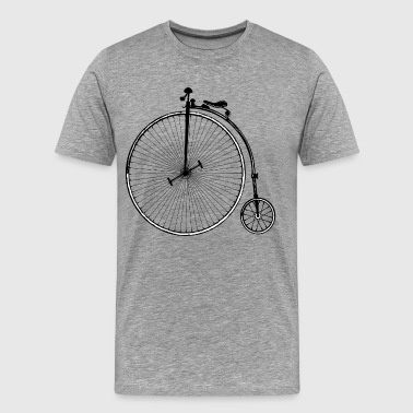 Vintage old fashioned bicycle clip art - Men's Premium T-Shirt